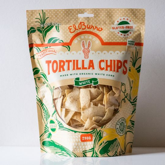 El Burro White Corn Chips 250g