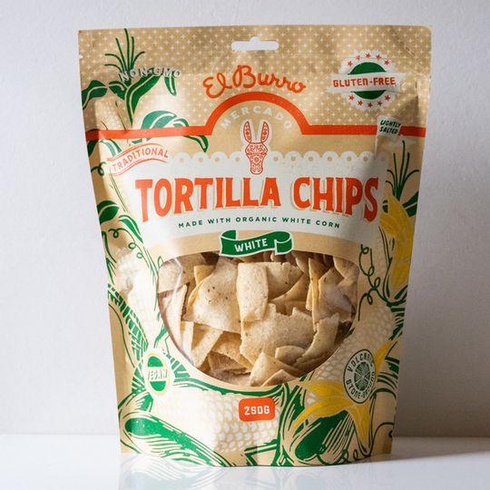 El Burro White Corn Chips 250g