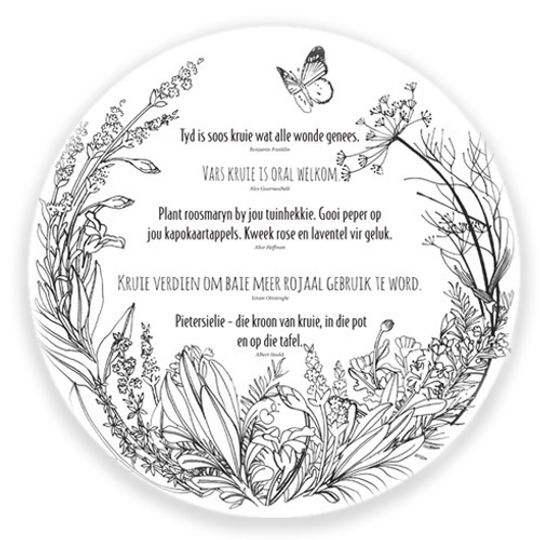 24 Placemats - Afrikaans Herb sayings