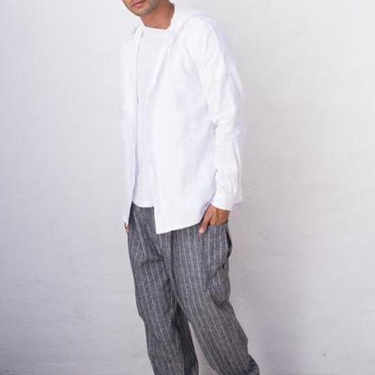 Linen Jacket With Hood