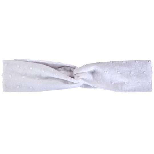 Twist Headband / Girls - White Dot - M0212