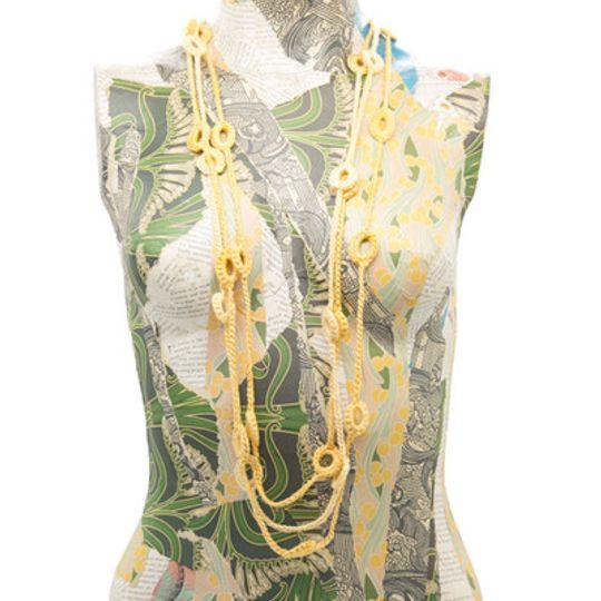 Crocheted Beads - Yellow