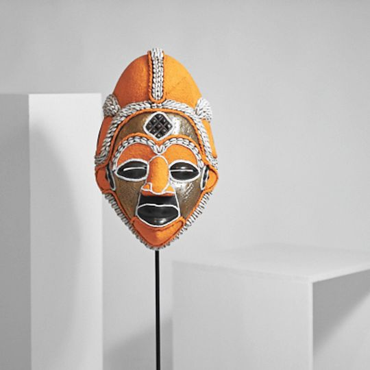 Orange mask from Gabon
