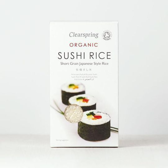 Clearspring Organic White Sushi Rice 500g