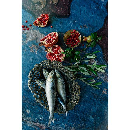 Tablecloth - Fish and Pomegranates