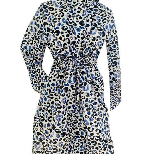 Hampton Parka - Leopard Blue