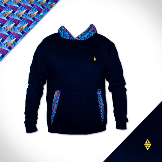 Royal Hooded Weave - Navy