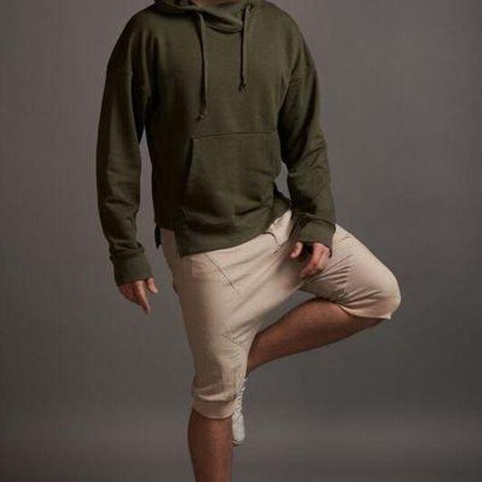 Dropped Crotch Linen Pants