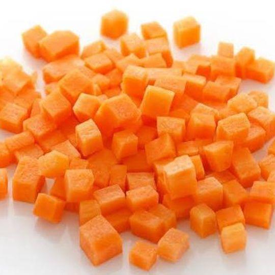 5 x 1kg Diced Carrots(Frozen)