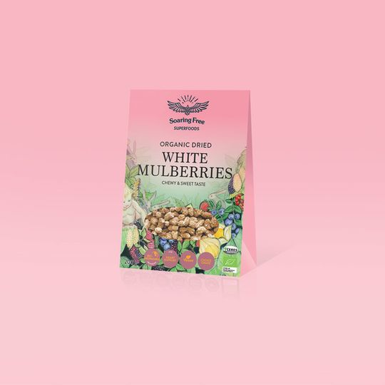 SOARING FREE SUPERFOODS Organic White Mulberries - 200g