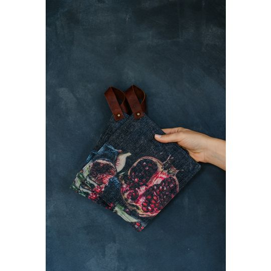 Potholders - Pomegranate with fig
