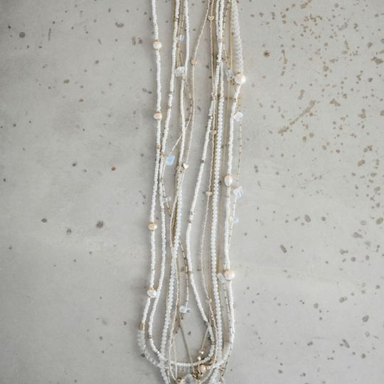 Fushion Necklace - Whites