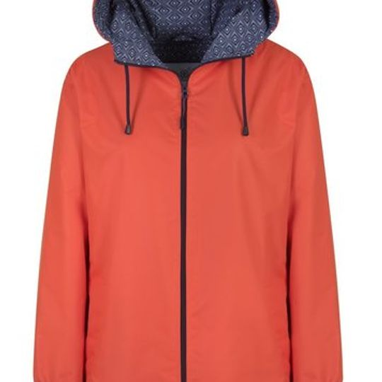 Orange Long Length Raincoat