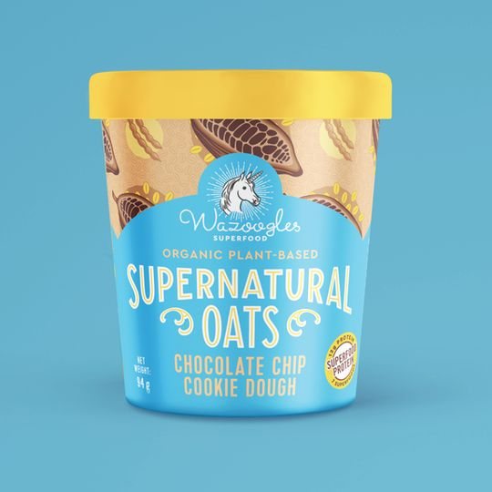 Wazoogles Supernatural Oats - Chocolate Chip Cookie Dough pot