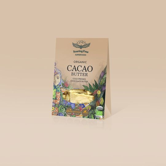 SOARING FREE SUPERFOODS Organic Raw Cacao Butter - 200g