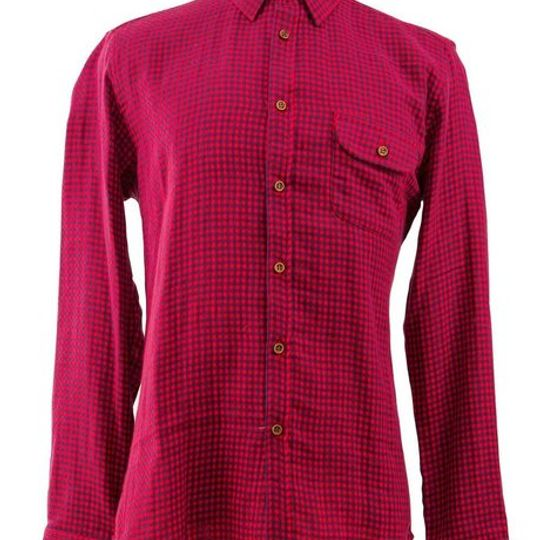 Men's Classic Red Gingham Check Shirt