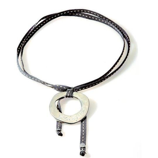 FEISTY Ribbon Necklace & Choker Unique - Dark Grey