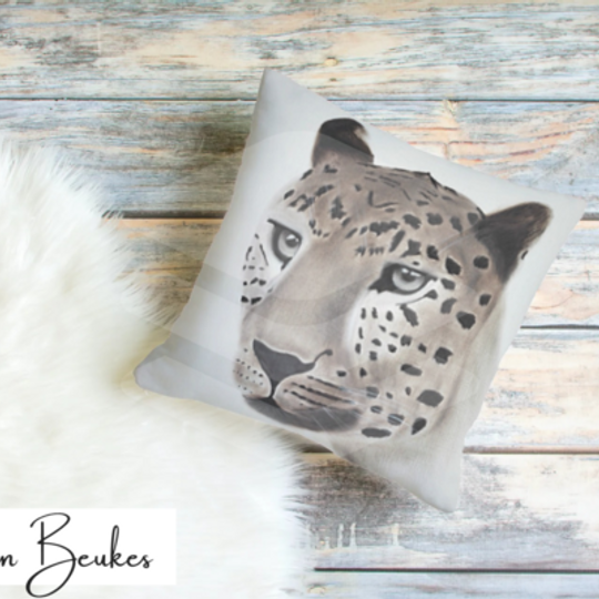 Gazing Leopard | Original Cushion
