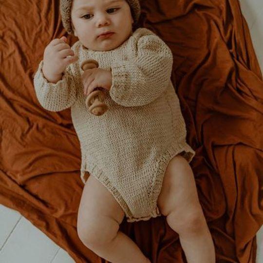 Cotton long sleeve baby grow