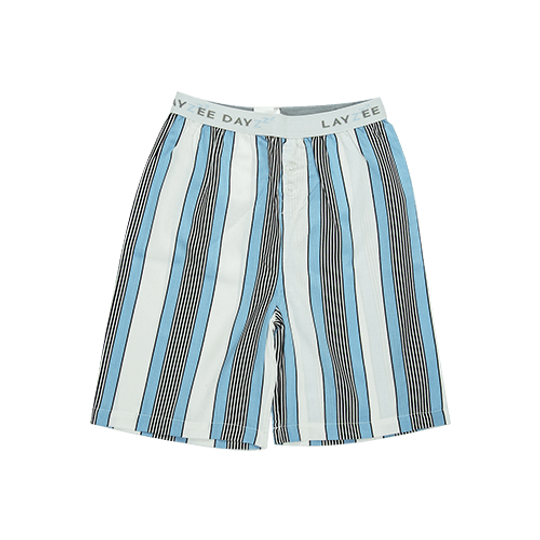 Boys Short Pants (Long Shorts) Unisex Blue Stripe