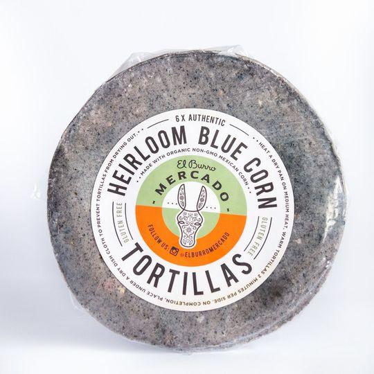 El Burro Heirloom Blue Corn Tortillas 6 pack