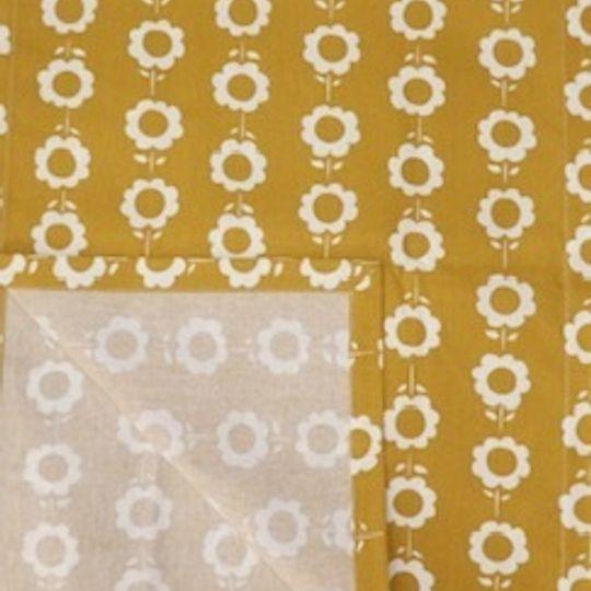 Daisychain mustard yellow runner