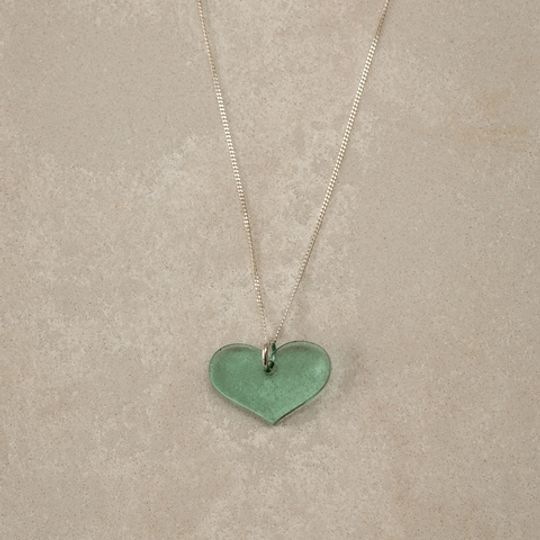 Perspex Flat Heart Necklace