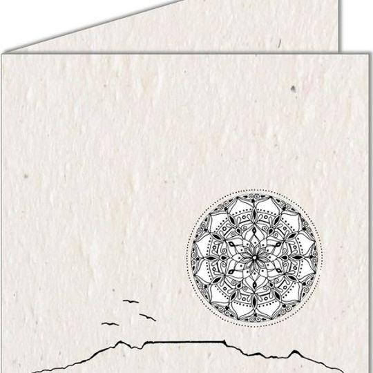 Greeting Card   Table Mountain & Mandala