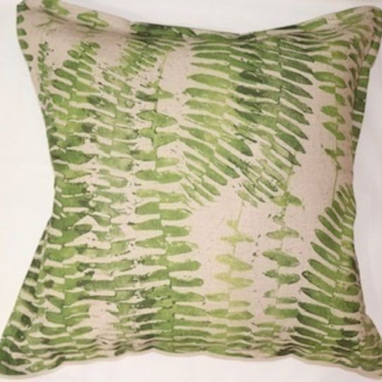 Green fern cushion cover