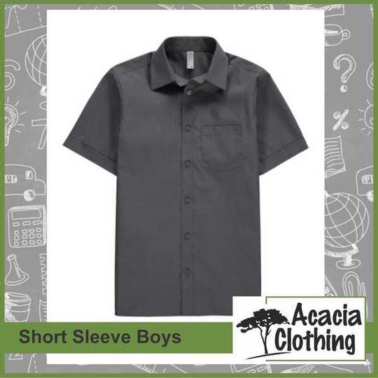 Boys Grey Shirt - Short Sleeve