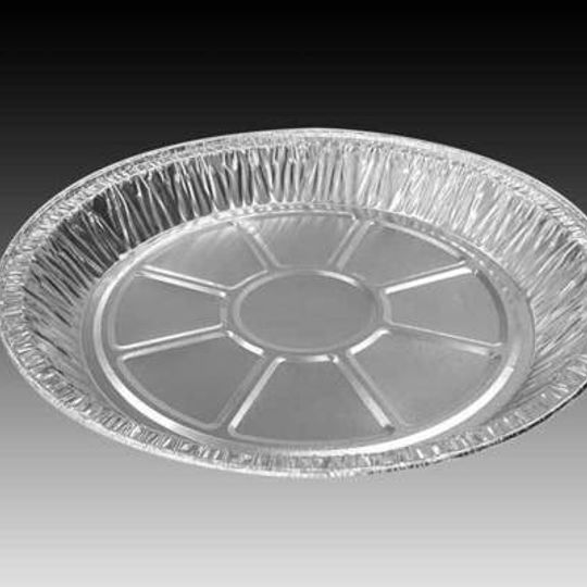 W3111- Large shallow sized aluminium foil pie dish with 225mm diameter,