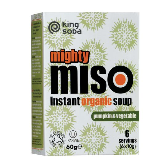 King Soba Organic Pumpkin & Vegetable Miso Soup (60g)