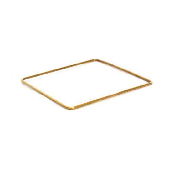 Brass Bangle - Square Shape