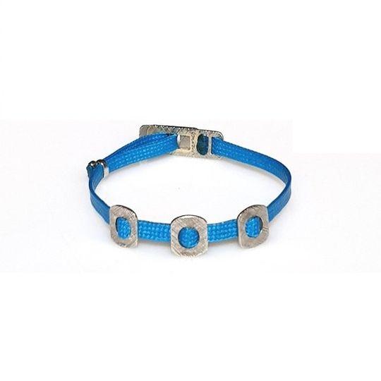 ZESTY Waxed Ribbon Bracelet Squares - Turquoise