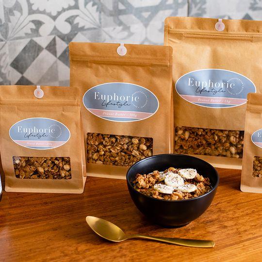 Euphoric Lifestyle Peanut Butter Granola 500g bag