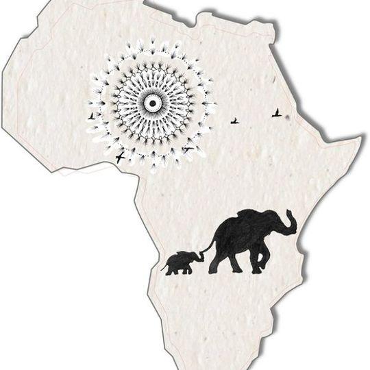 Set of 3 tags | Mandala African Shape