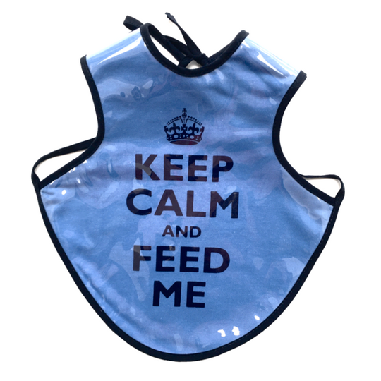 Keep Calm Navy Easy-Care Bib