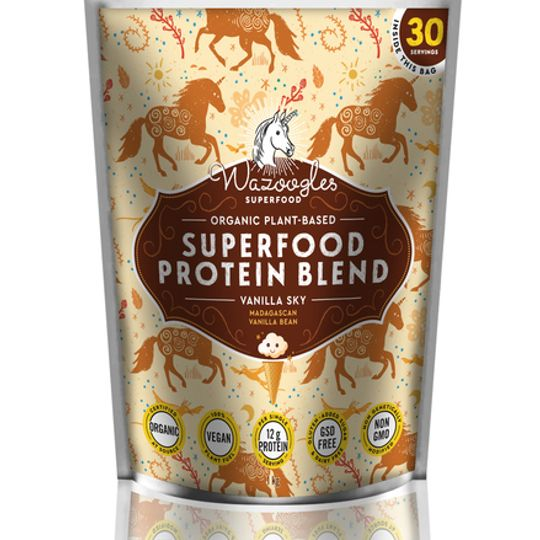 Wazoogles Superfood Protein Blend - Vanilla Sky large (1kg)