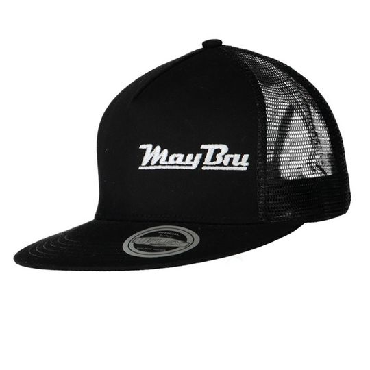'May Bru' Mens Trucker Snapback Flat Peak