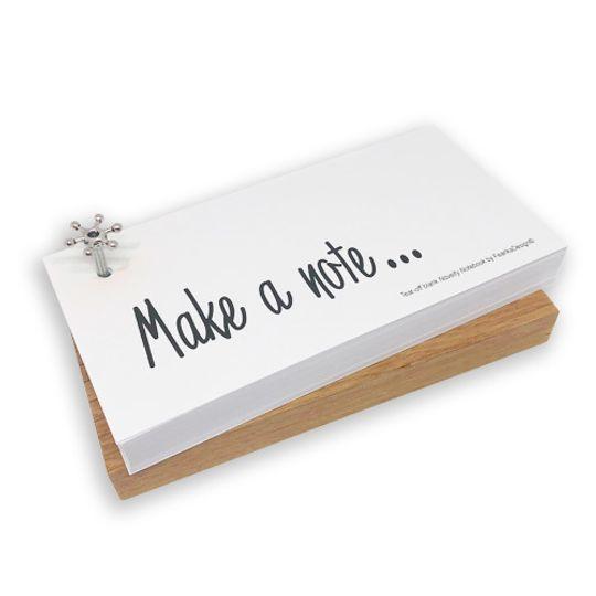 Novelty Notebook on wooden block (English)