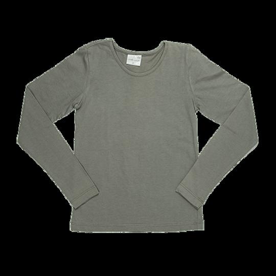 Kids Long Sleeve - Round Neck Grey