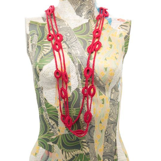 Crocheted Beads - Red