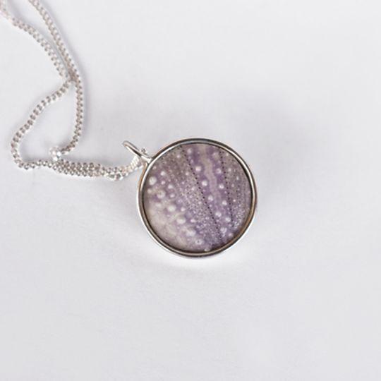 Round Lilac Sea Urchin Necklace