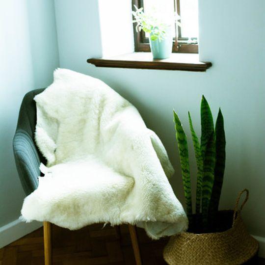 South African Merino sheepskin natural white