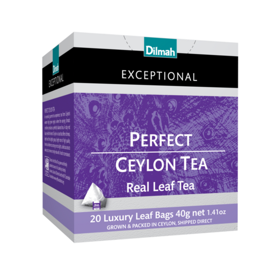 Dilmah Exceptional Perfect Ceylon Tea (20 x 2g luxury leaf tea bags)