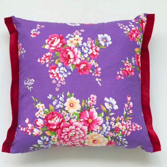 Posy Plum Cushion