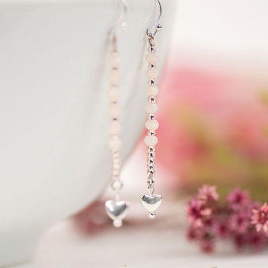 Long Crystal Drop Earrings