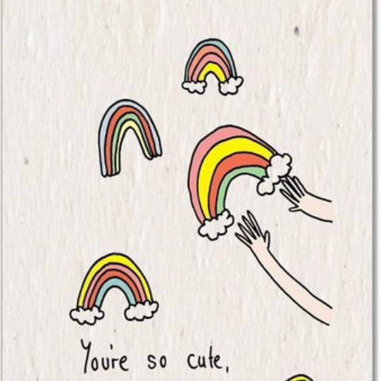 Greeting Card   Rainbows