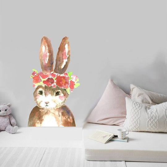 Watercolour Bunny Decal