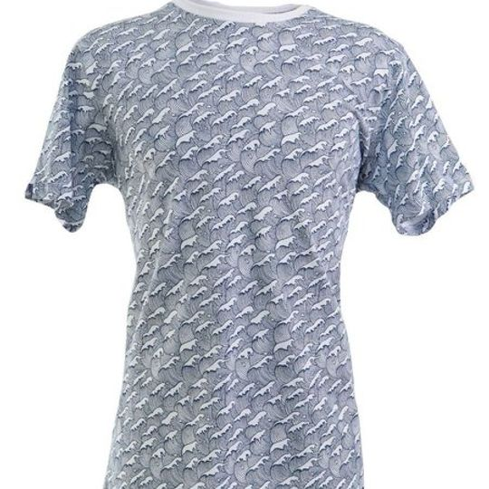 Men's Retro Wave Print T-Shirt
